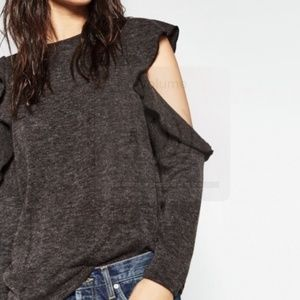 ZARA Collection Open Shoulder Long Sleeve Sweater